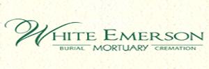 White Emerson Mortuary Logo