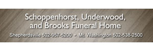Schoppenhorst, Underwood and Brooks Funeral Home Logo