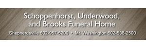 Schoppenhorst, Underwood and Brooks Funeral Home Logo