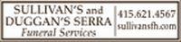 Sullivan's and Duggan's Serra Funeral Services Logo