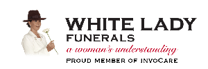 White Lady Funerals Logo