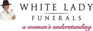 White Lady Funerals Logo