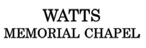 Watts Memorial Chapel Logo